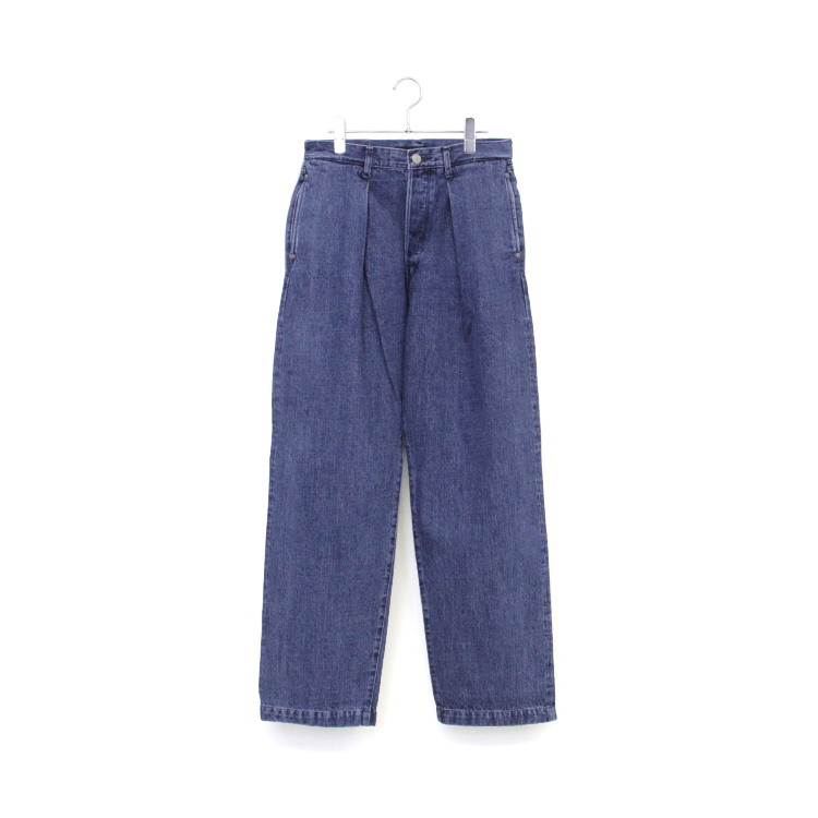 JOSWICK / PLEATED DENIM WASHED