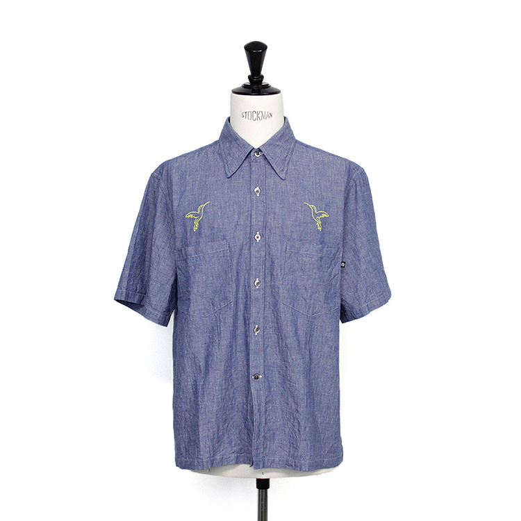 usually just a T-SHIRT / CHAMBRAY S/S SHIRT