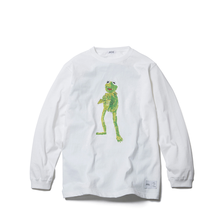 CULTCLUB / FROG LONG SLEEVE TEE by YUNG LENOX/WHITE