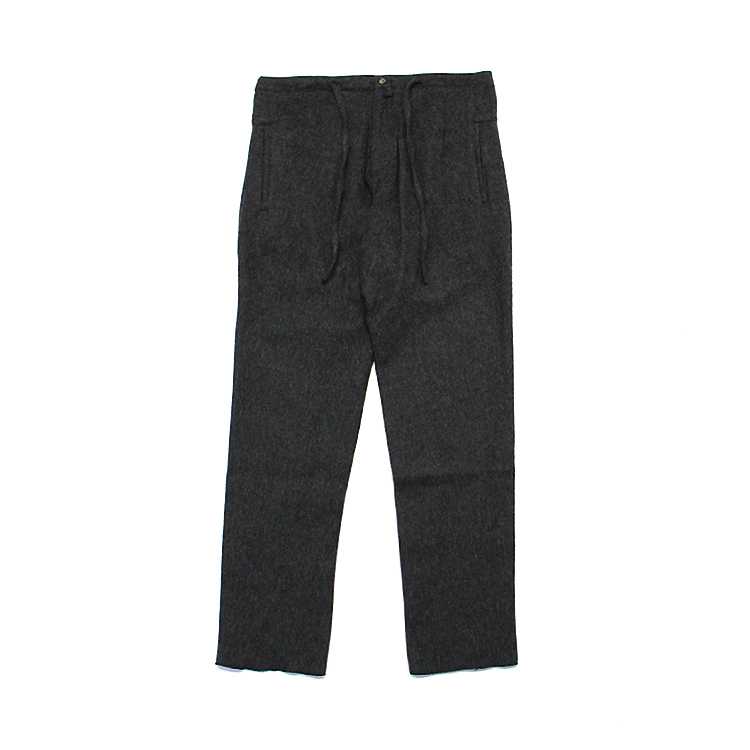 THE INOUE BROTHERS... / Wide Alpaca Trousers/CHACOAL