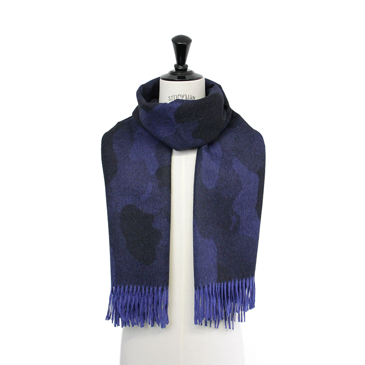 THE INOUE BROTHERS... / Large Woven Stole/CAMO NAVY