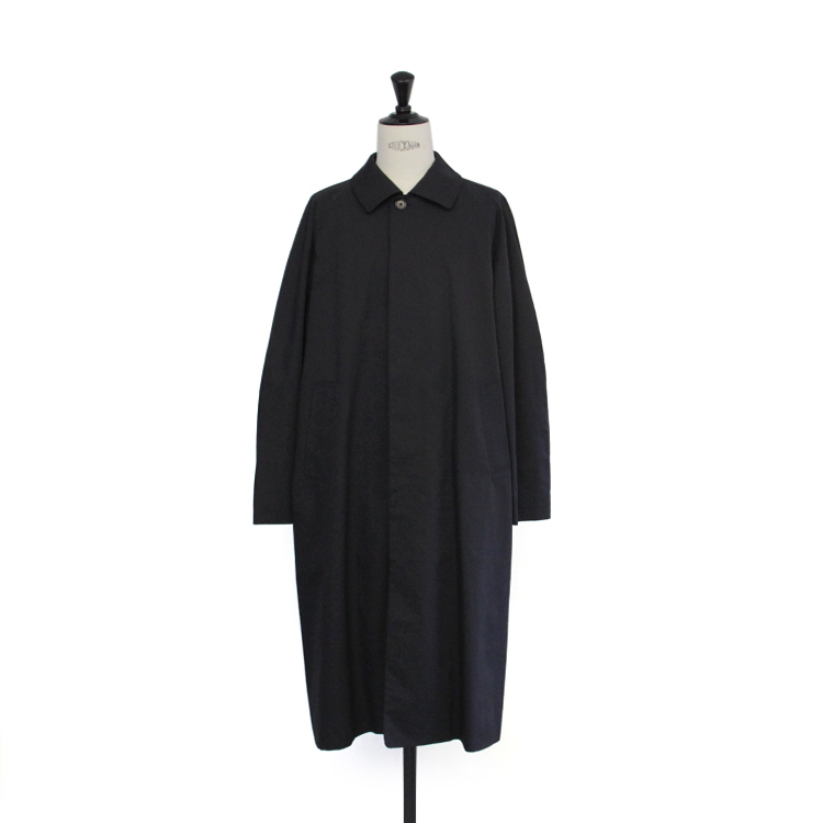 YAECA(MEN) / SOUTIEN COLLAR COAT - LONG/NAVY
