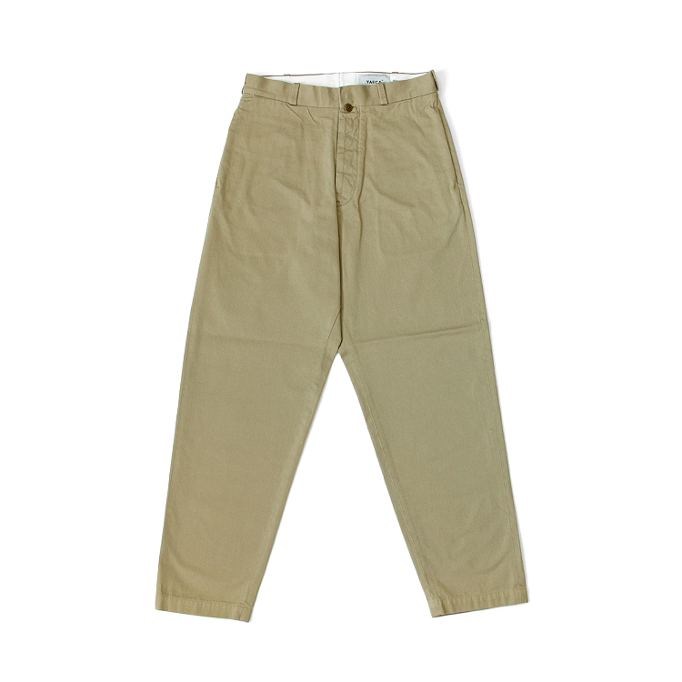YAECA(WOMEN) / WIDE TAPERED-CHINO PANTS/KHAKI