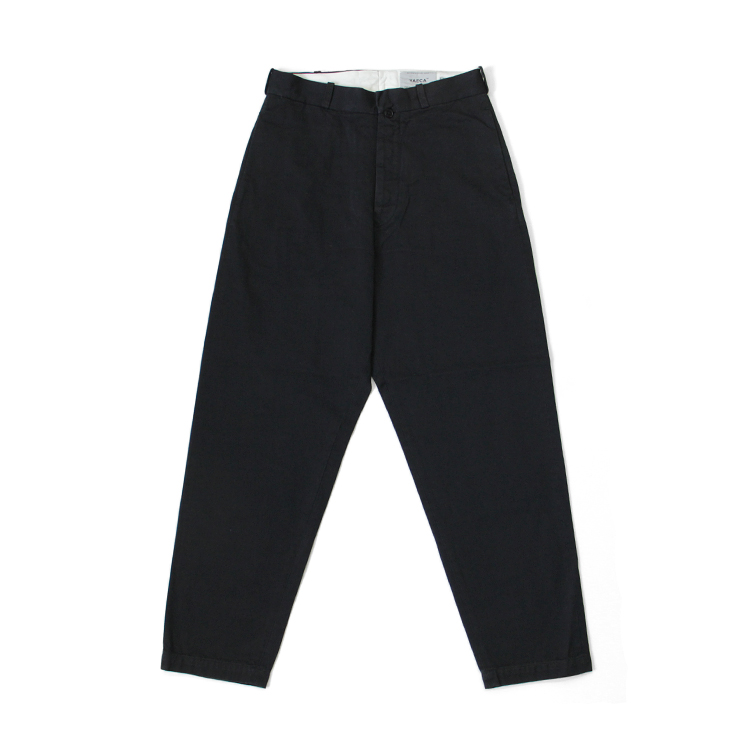 YAECA(WOMEN) / WIDE TAPERED-CHINO PANTS/NAVY