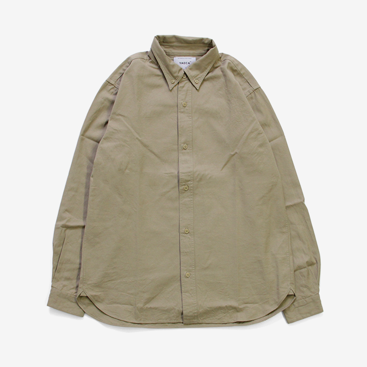 YAECA(MEN) / BUTTON SHIRTS BD/KHAKI