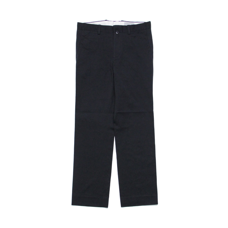 YAECA(MEN) / PIPED STEM - CHINO CLOTH PANTS/NAVY