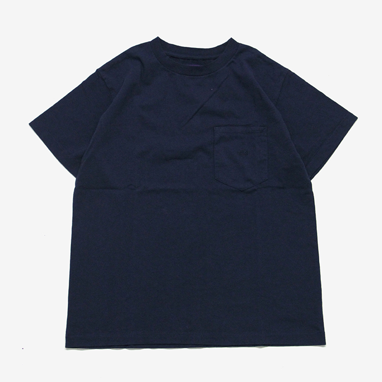 THE NORTH FACE PURPLE LABEL / 7oz H/S Pocket Tee/NAVY