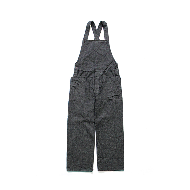 YAECA(MEN) / OVERALLS/BLACK INDIGO