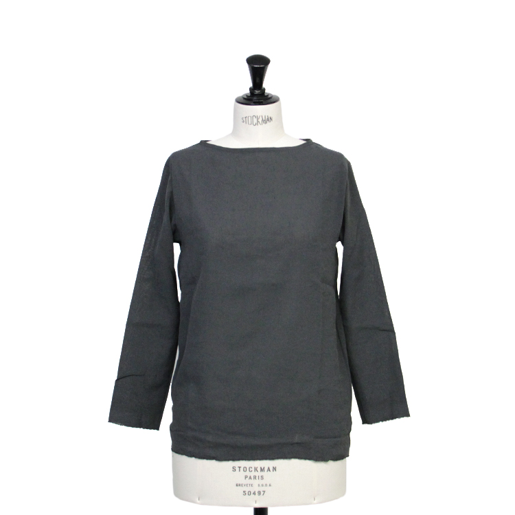 YAECA(WOMEN) / L/S T-SHIRT/C.GRAY