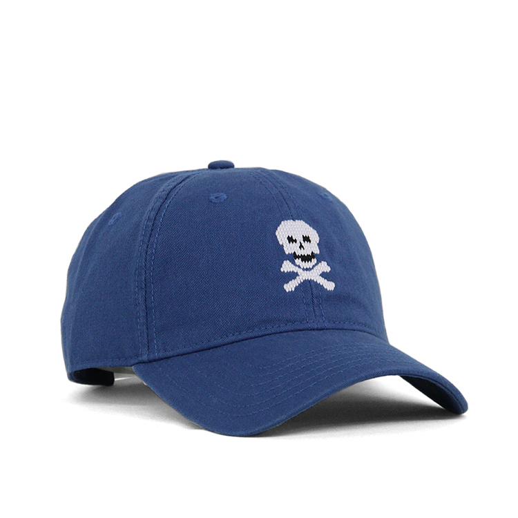 HARDING-LANE / SKULL&BONES HAT ON CASPIAN BLUE HAT