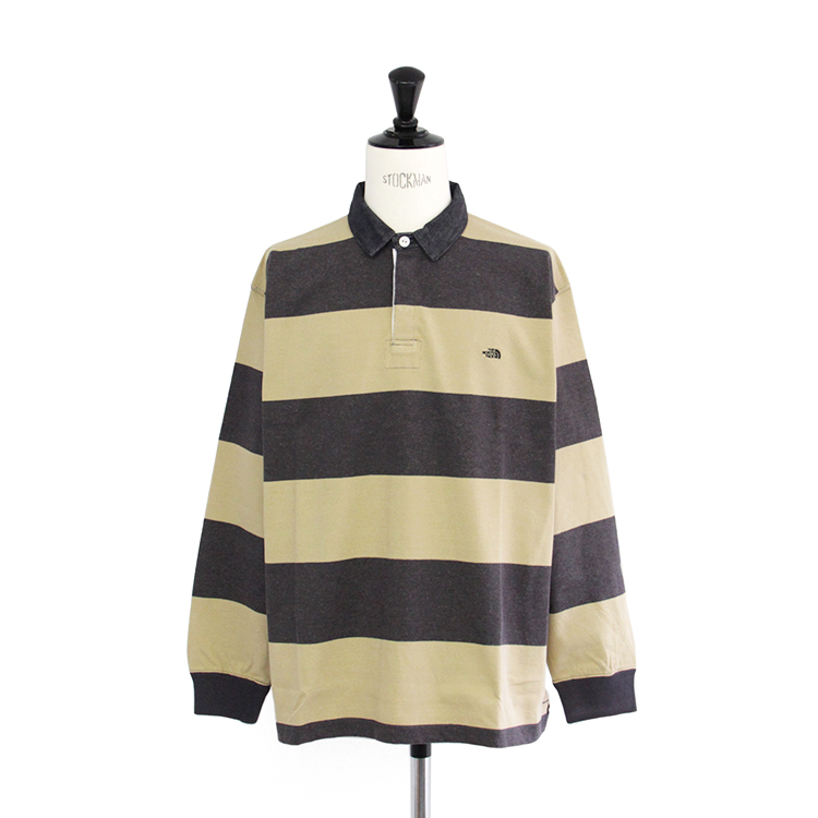 THE NORTH FACE PURPLE LABEL / L/S Rugby Shirt/BEIGE