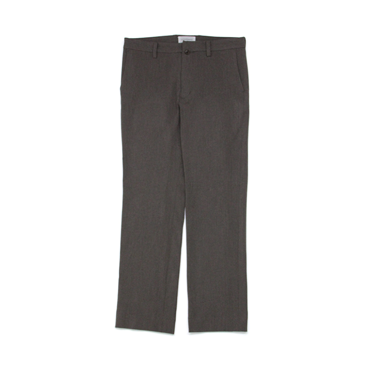 YAECA(MEN) /  FLARE STRAIGHT 2WAY PANTS/BROWN