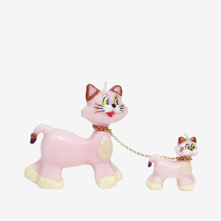 OLGA GOOSE CANDLE / PINK CATS