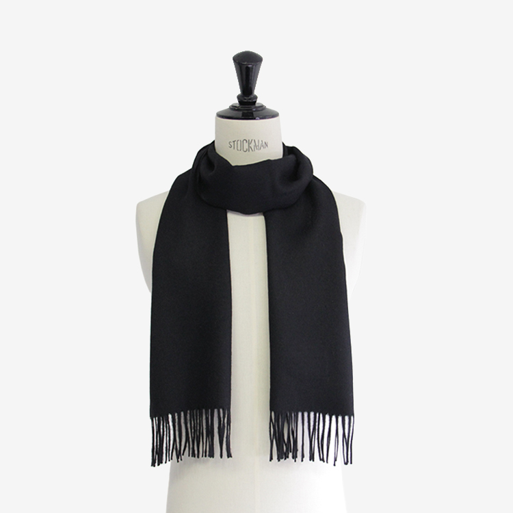 THE INOUE BROTHERS... / Brushed Scarf / BLACK