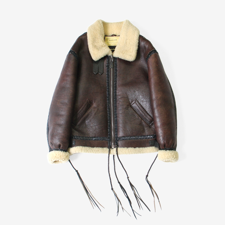 SEVEN BY SEVEN / SEVEN BY SEVEN X ROOSTER KING B-3 LEATHER JACKET