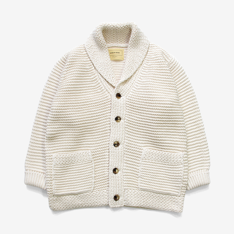 SEVEN BY SEVEN / KNIT CARDIGAN / WHITE