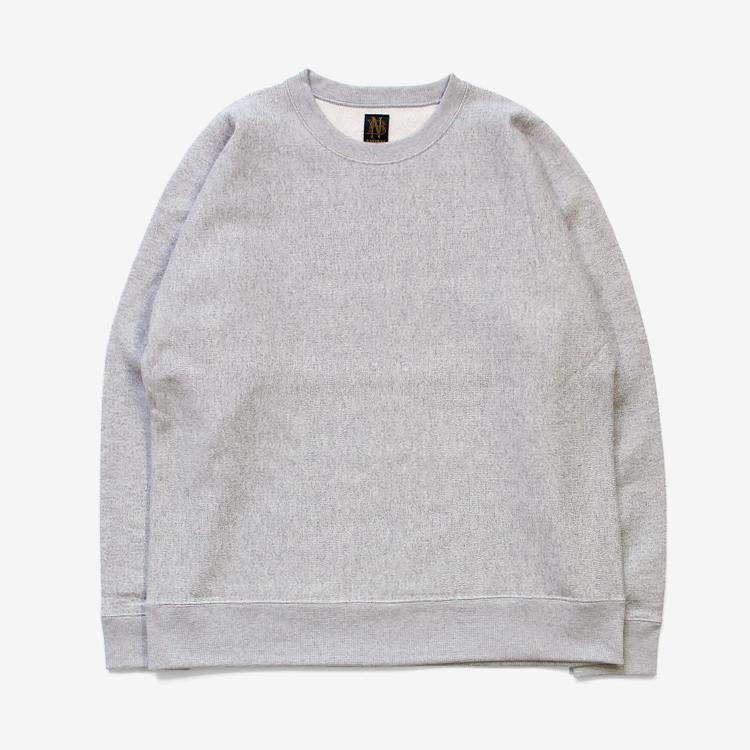 BATONER(MEN) / LOOPWHEEL KNITYARN CREW NECK SWEAT / GREY