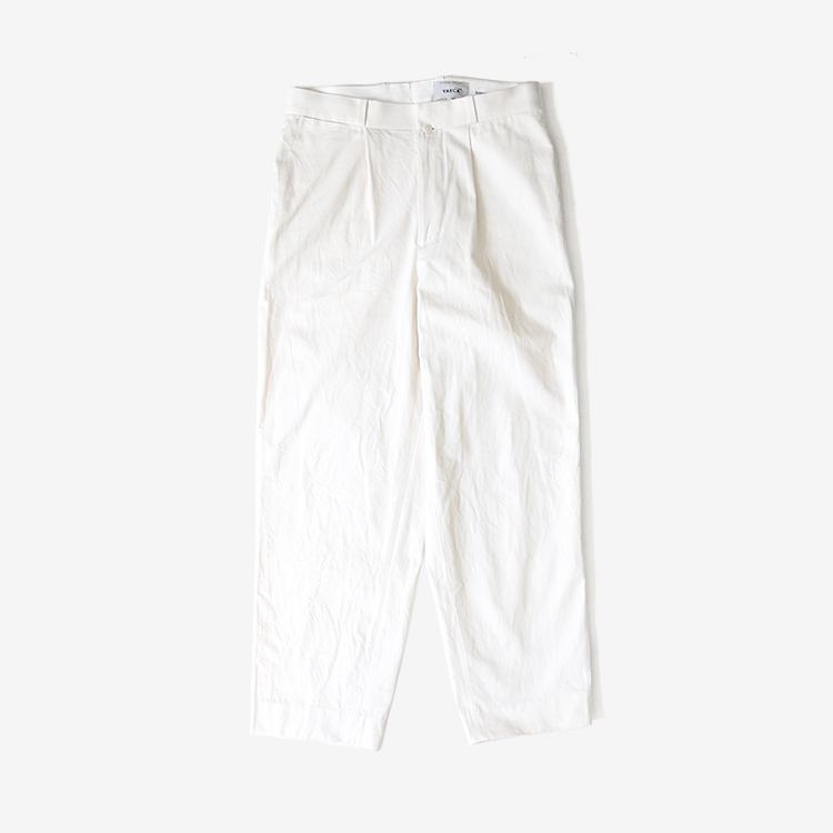 YAECA(MEN) / TUCK TAPERED - CHINO CLOTH PANTS(10607) / WHITE