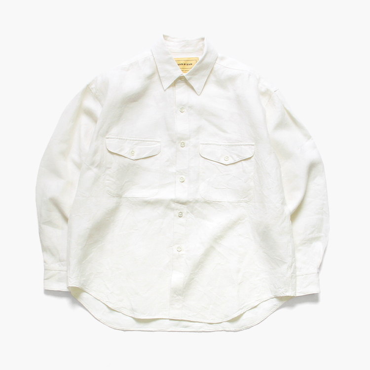 SEVEN BY SEVEN / TUCK SHIRTS- Brushed linen –