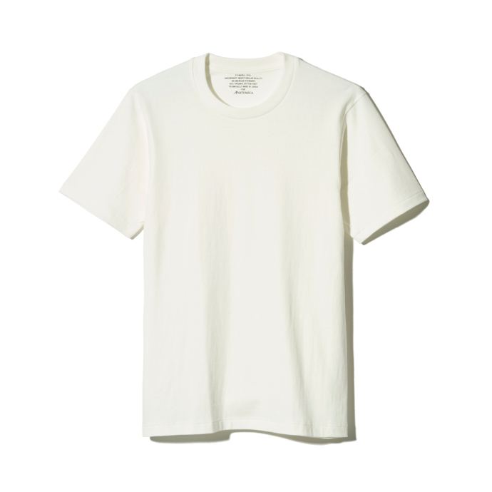 Anatomica(MEN) / ORGANIC TEE / DULL WHITE