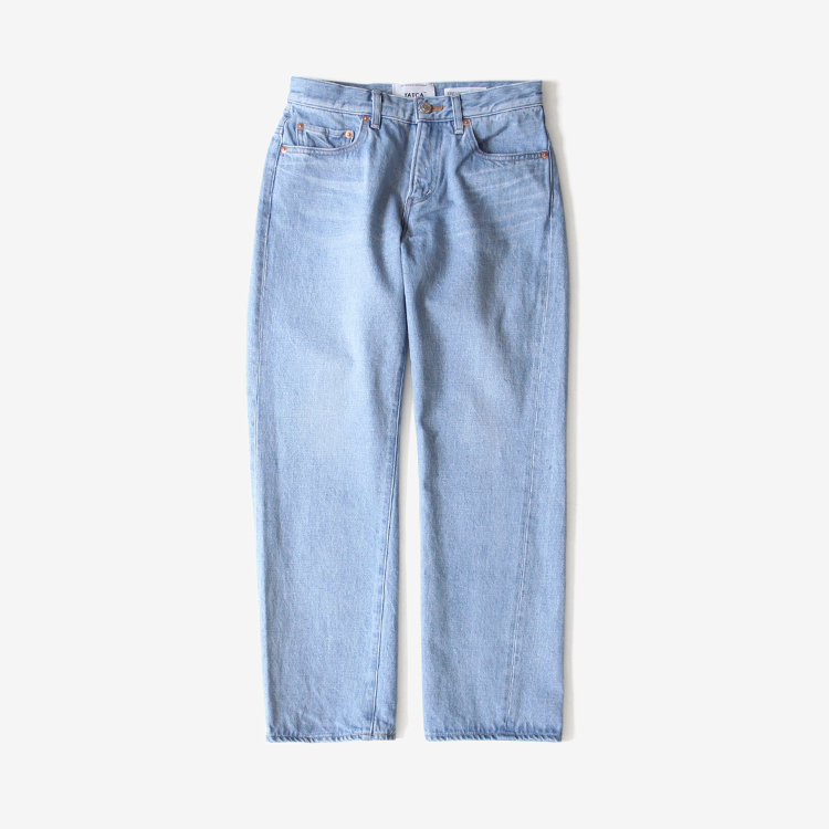 YAECA(WOMEN) / PIPED STEM DENIM(3-13U) / L.BLUE