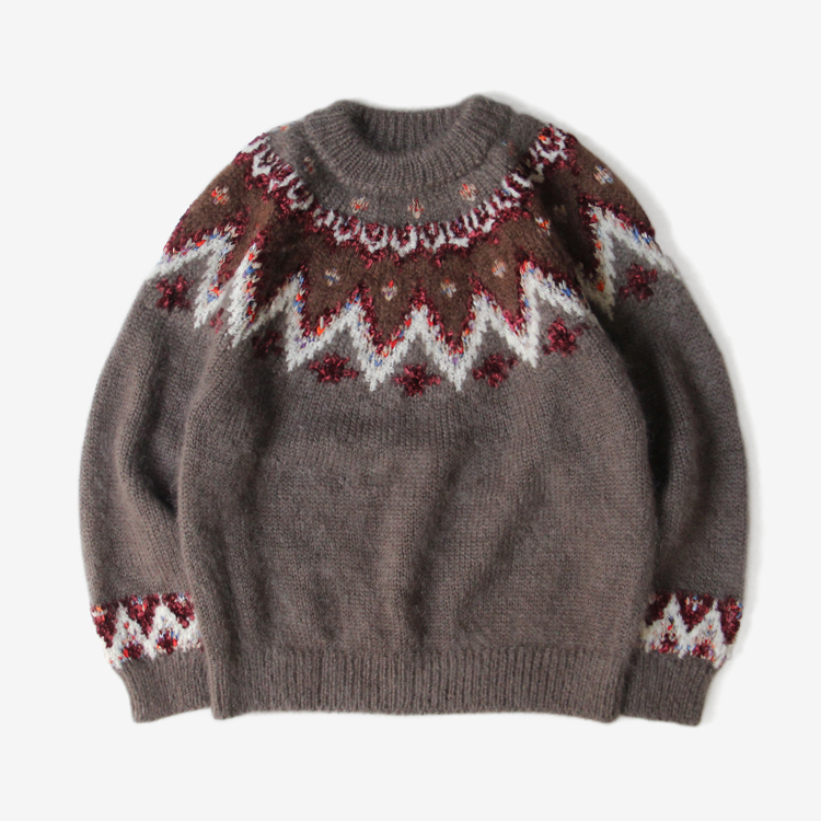 COOHEM (WOMEN) / MOHAIR NORDIC KNIT / BROWN