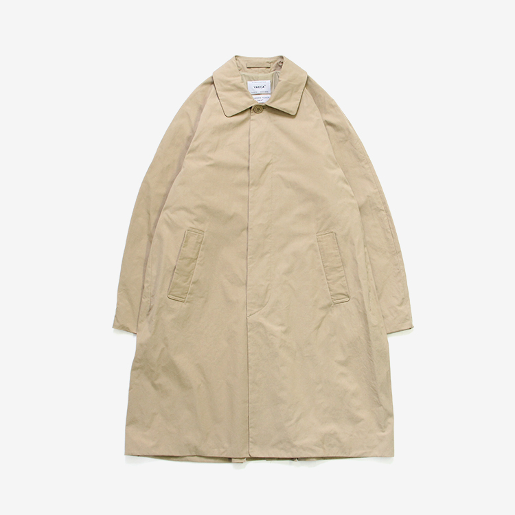 YAECA(MEN) / SOUTIEN COLLAR COAT - STANDARD / KHAKI