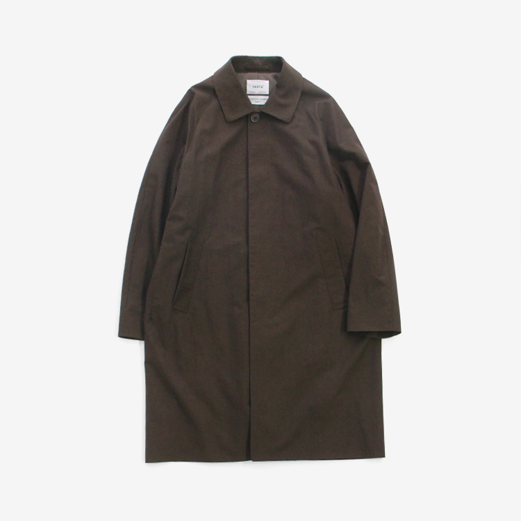 YAECA(MEN) / SOUTIEN COLLAR COAT - STANDARD / BROWN
