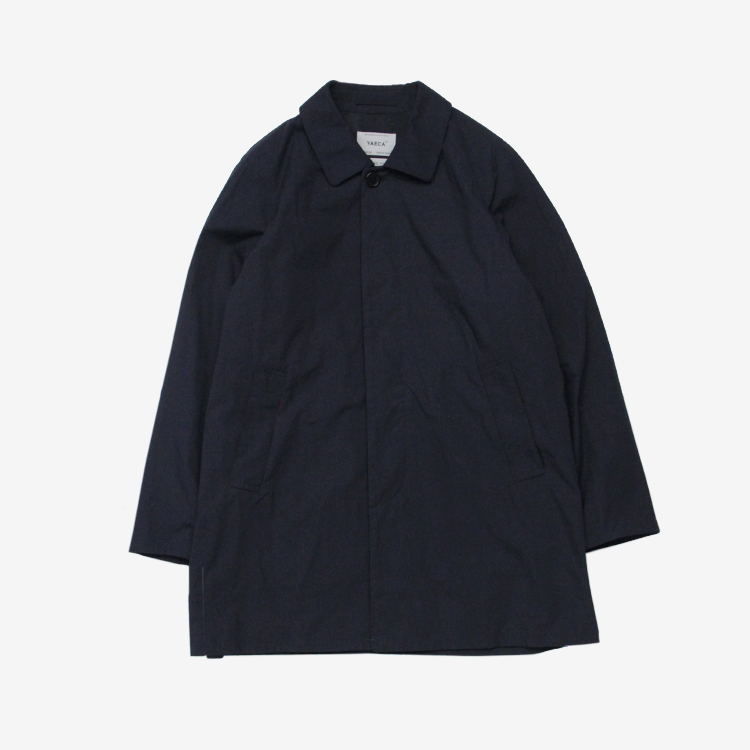 YAECA(MEN) / SOUTIEN COLLAR COAT - SHORT / NAVY