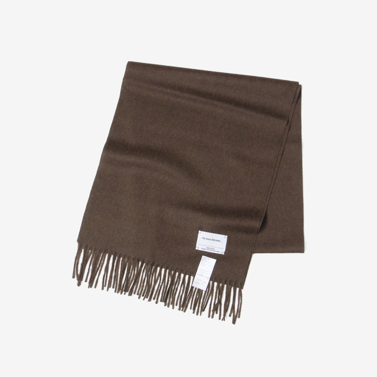 THE INOUE BROTHERS... / Brushed Scarf / BROWN