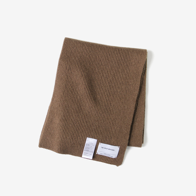 THE INOUE BROTHERS... / Knitted Scarf / CAMEL