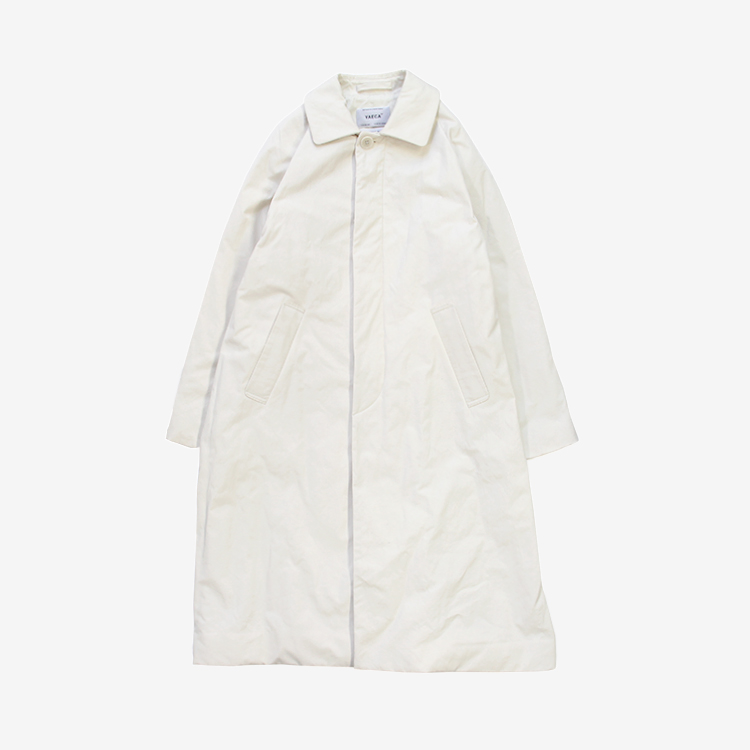 YAECA(WOMEN) / SOUTIEN COLLAR COAT STANDARD PADDING / WHITE