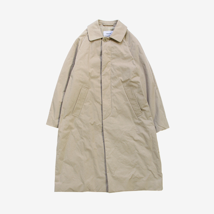 YAECA(WOMEN) / SOUTIEN COLLAR COAT STANDARD PADDING / KHAKI