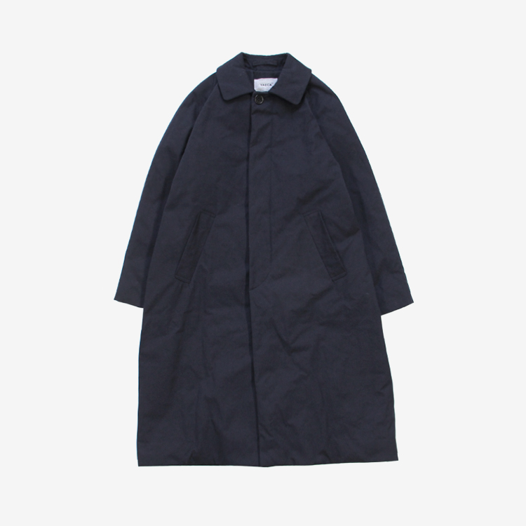 YAECA(WOMEN) / SOUTIEN COLLAR COAT STANDARD PADDING / NAVY