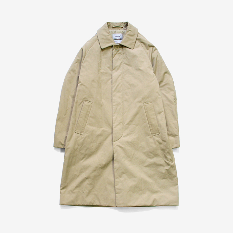 YAECA(MEN) / SOUTIEN COLLAR COAT STANDARD PADDING / KHAKI