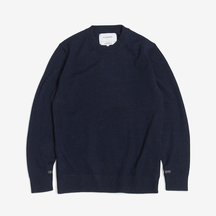 THE INOUE BROTHERS... / Crew Neck Jersey Sweater / NAVY