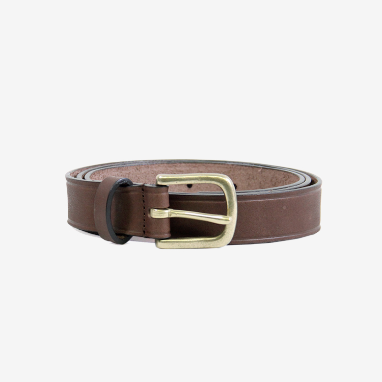 SEVEN BY SEVEN / LEATHER BELT /BROWN
