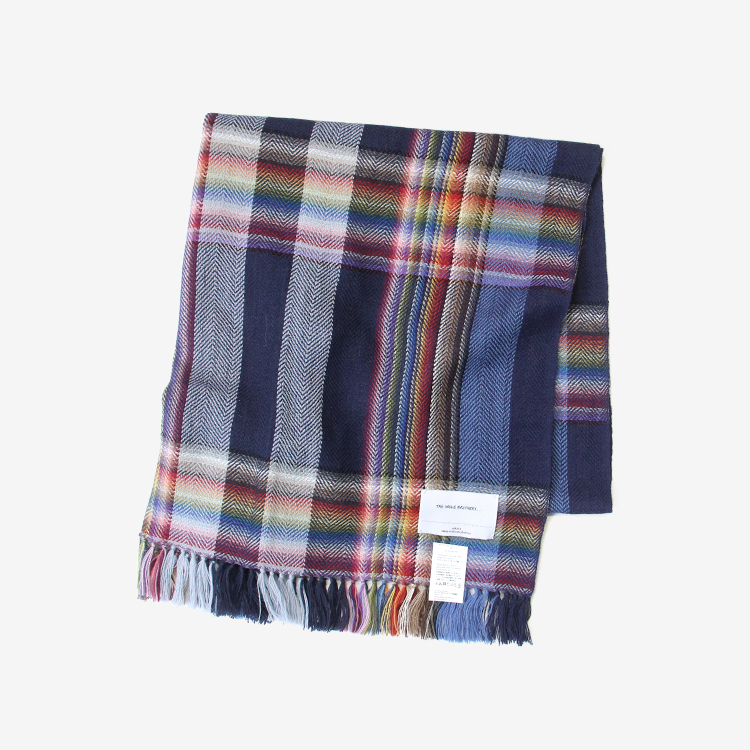 THE INOUE BROTHERS... / Multi Colored Scarf / NAVY