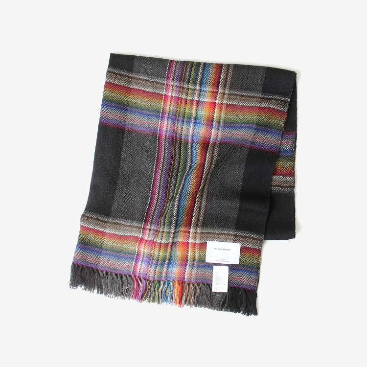 THE INOUE BROTHERS... / Multi Colored Scarf / BLACK