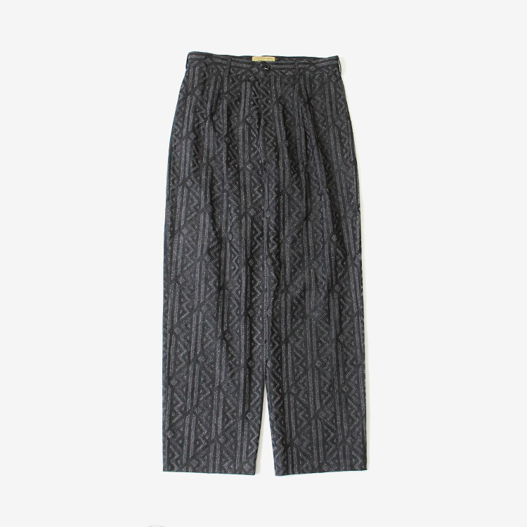 SEVEN BY SEVEN / GEOMETRIC WIDE TROUSERS - Punching denim - / BLACK