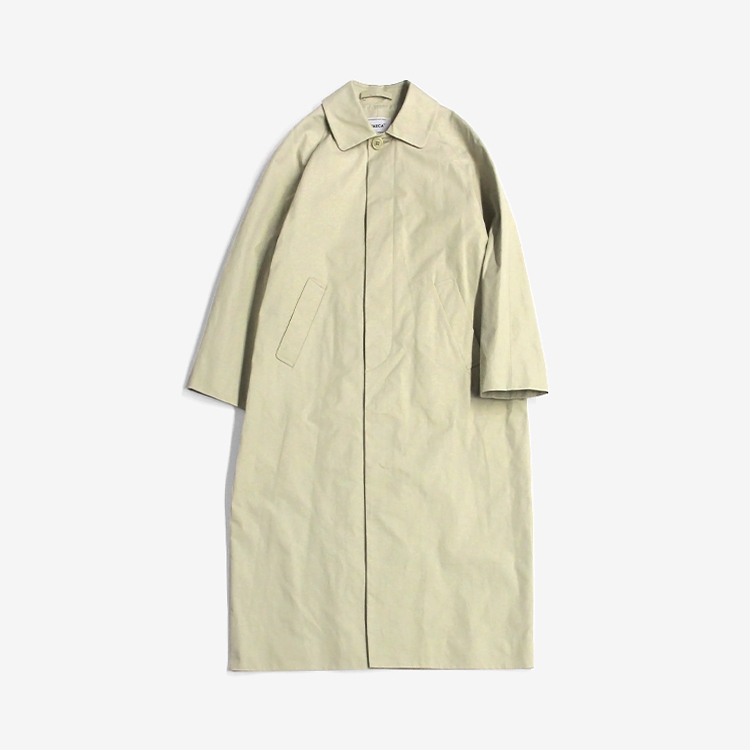YAECA(WOMEN) / SOUTIEN COLLAR COAT - LONG / BEIGE