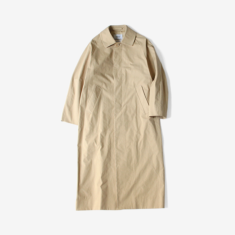 YAECA(WOMEN) / SOUTIEN COLLAR COAT - LONG / KHAKI