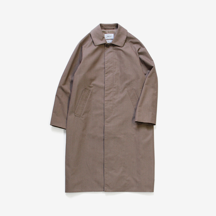 YAECA(WOMEN) / SOUTIEN COLLAR COAT - STANDARD / BROWN