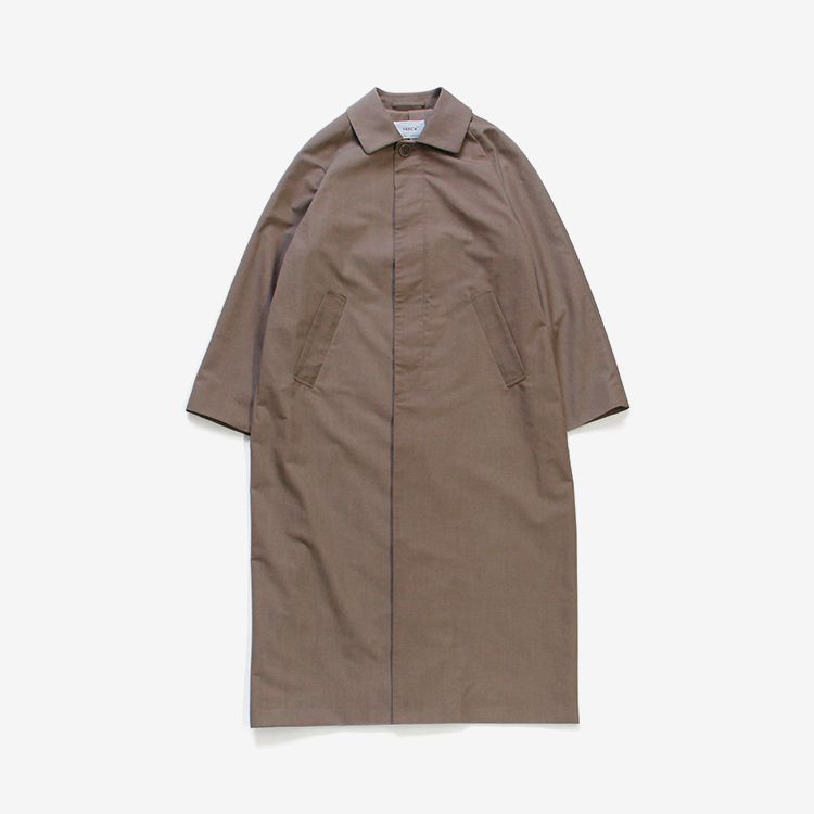 YAECA(WOMEN) / SOUTIEN COLLAR COAT - LONG / BROWN