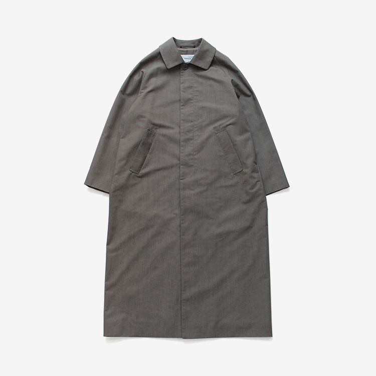 YAECA(WOMEN) / SOUTIEN COLLAR COAT - LONG / GRAY