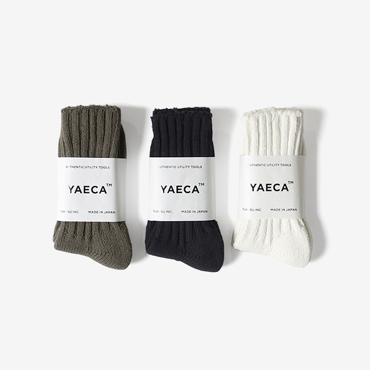 YAECA(MEN) / COTTON SILK SOCKS