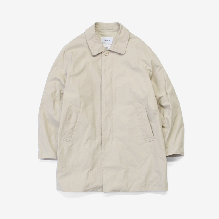 YAECA(MEN) / SOUTIEN COLLAR COAT - SHORT / BEIGE