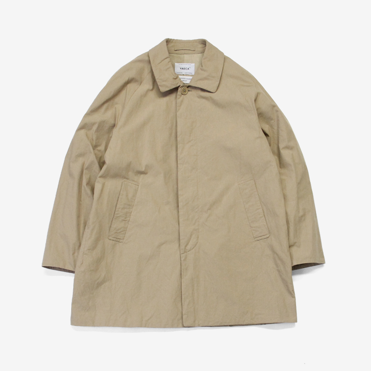 YAECA(MEN) / SOUTIEN COLLAR COAT - SHORT / KHAKI