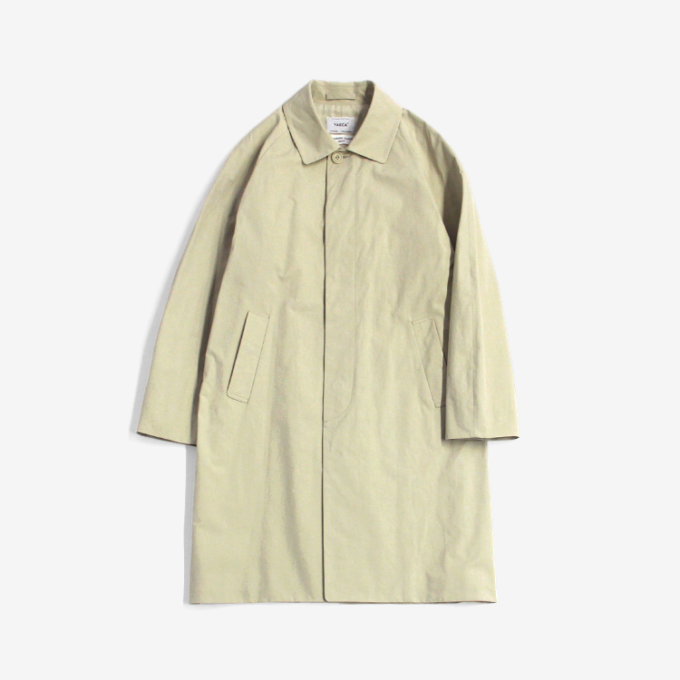 YAECA(MEN) / SOUTIEN COLLAR COAT - STANDARD / BEIGE