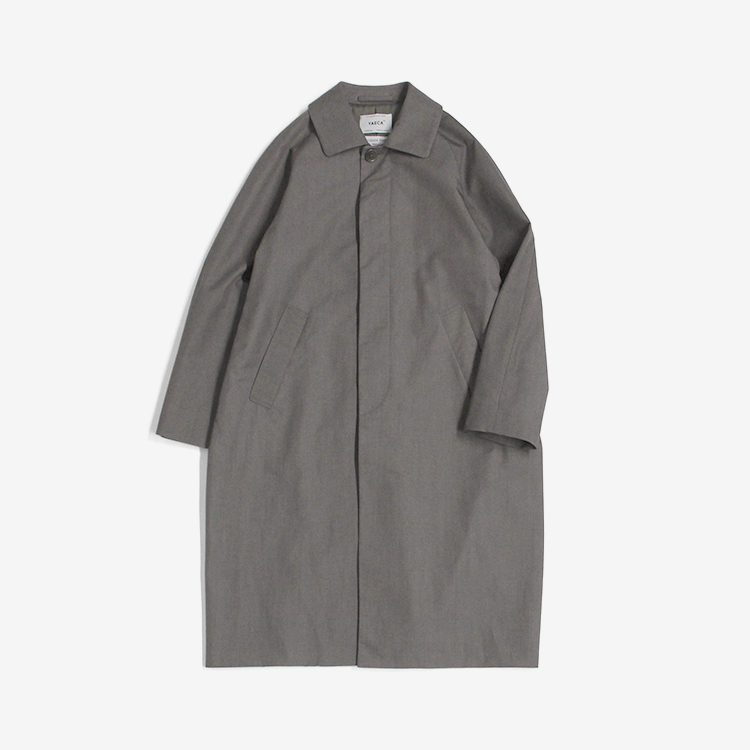 YAECA(MEN) / SOUTIEN COLLAR COAT - STANDARD / GRAY